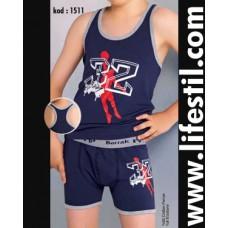Erkek Çocuk Atlet/Boxer Takım