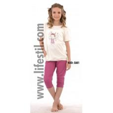 Kız Çocuk Kapri Takımı